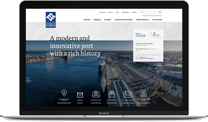 Fremantle Ports Website